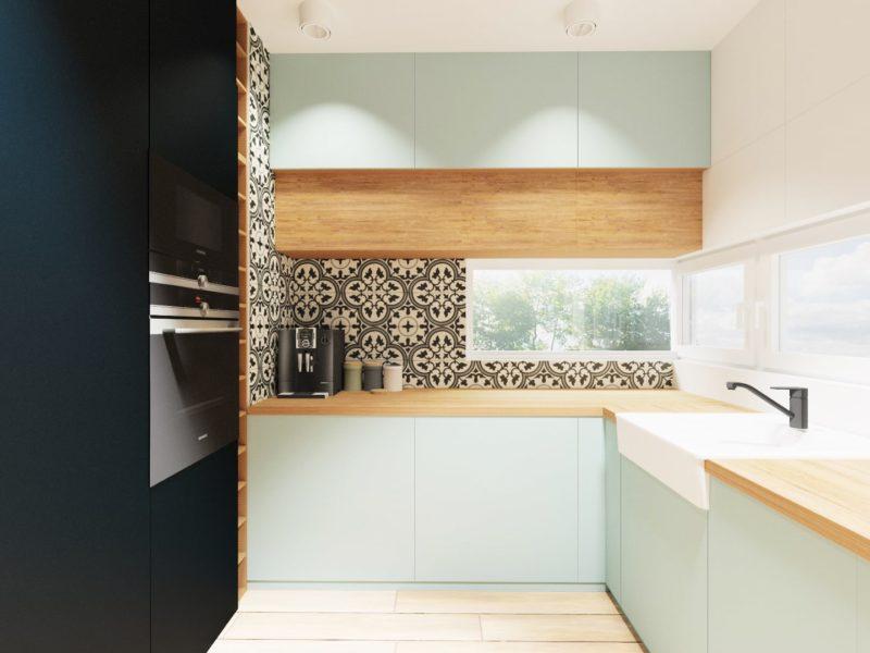 Kuchnia 2 - wizualizacja aranżacji wnętrza