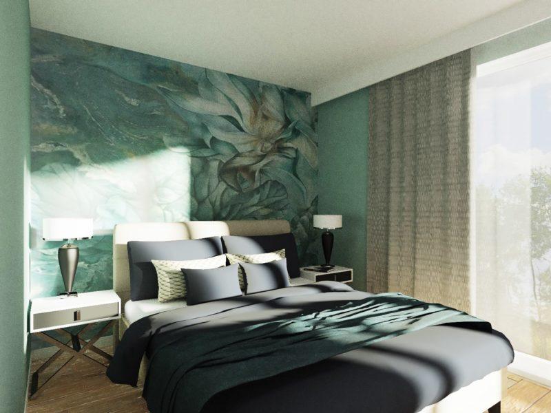 Sypialnia - wizualizacja aranżacji wnętrza